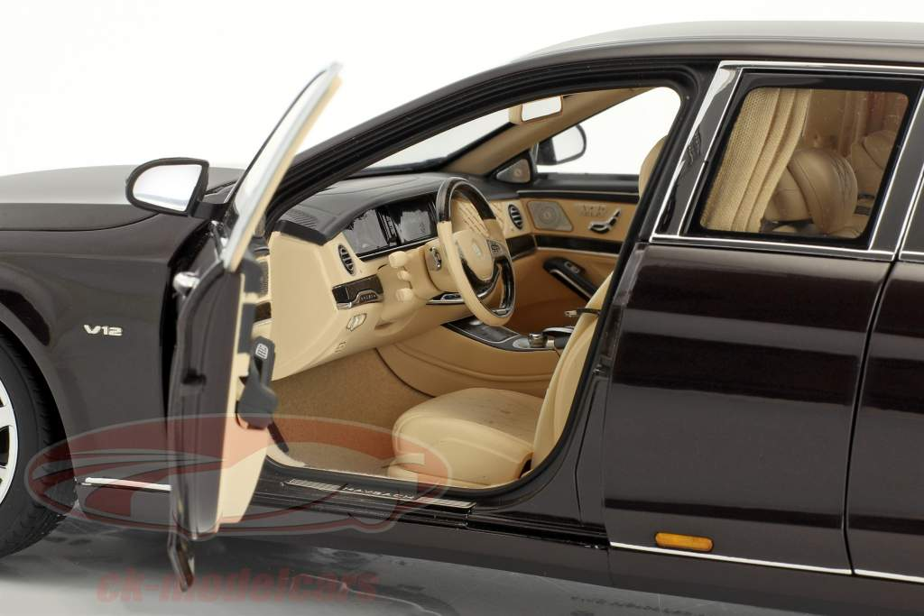 Mercedes-Benz Maybach S 600 Pullman Baujahr 2016 dunkelrot metallic 1:18 AUTOart