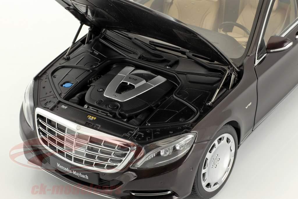 Mercedes-Benz Maybach S 600 Pullman year 2016 dark red metallic 1:18 AUTOart