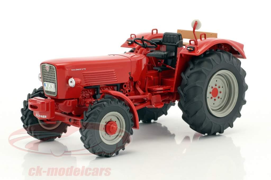 Güldner G75A trattore con trailer rosso / marrone 1:32 Schuco