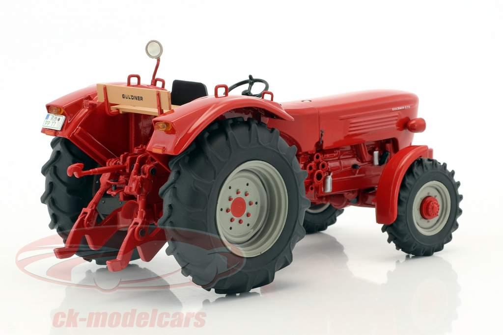 Güldner G75A Traktor mit Schaustellerwagen rot / braun 1:32 Schuco