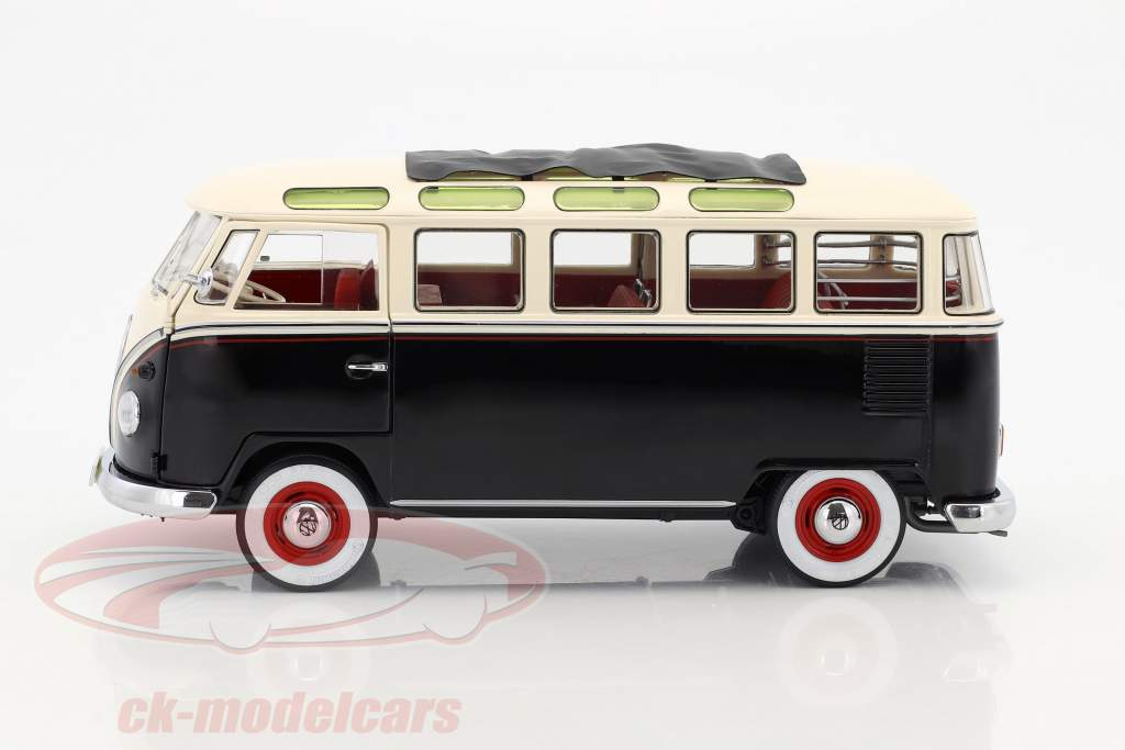 Volkswagen VW T1 Samba Bus année de construction 1959-1963 noir / blanc 1:18 Schuco