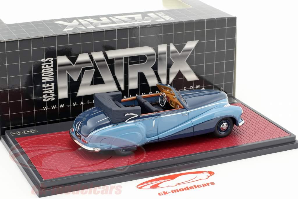 Mercedes-Benz 320A (W142) Spezial Cabriolet aperto anno di costruzione 1948 blu 1:43 Matrix