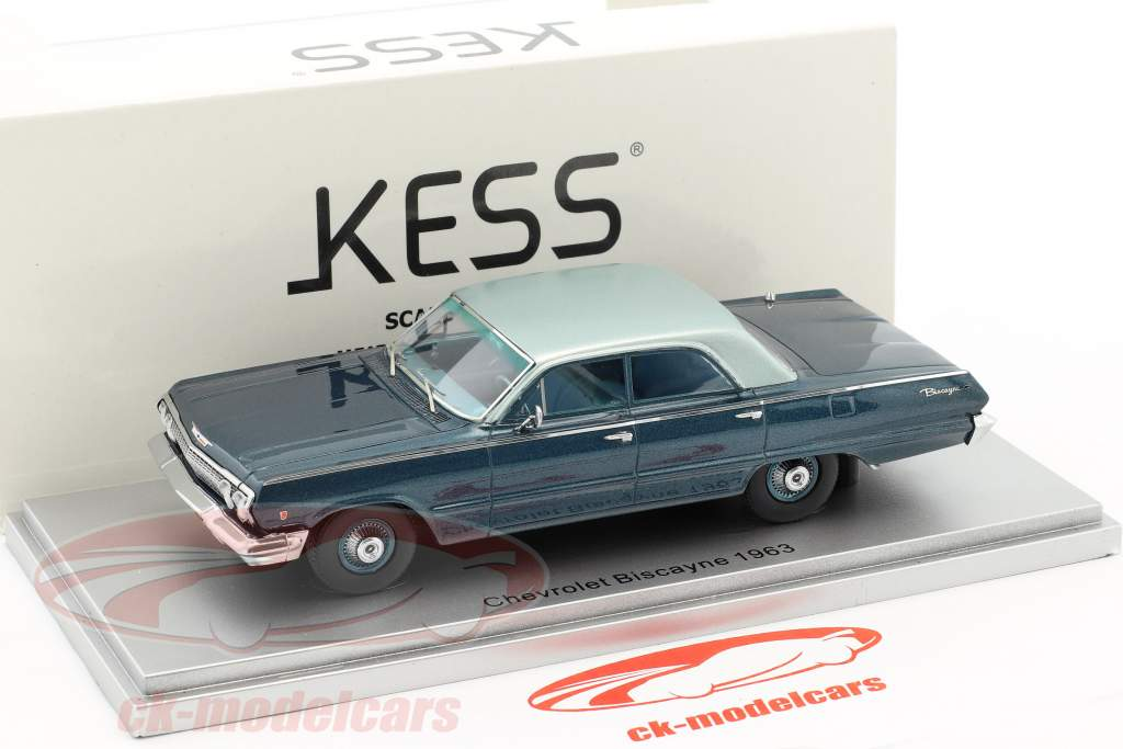 Chevrolet Biscayne year 1963 blue 1:43 KESS