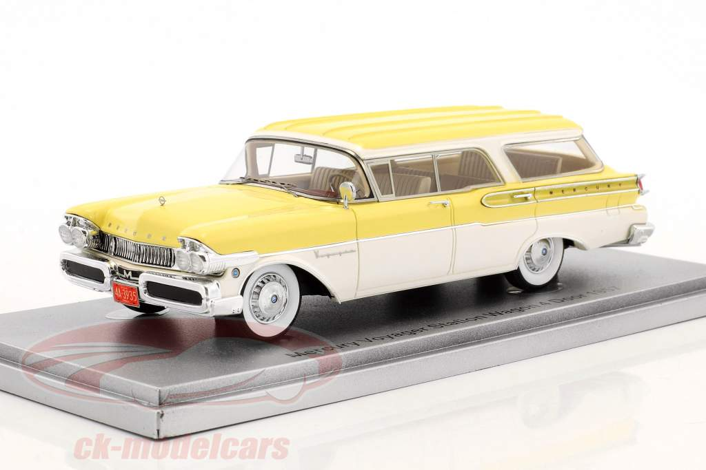 Mercury Voyager Station Wagon 4 Door year 1957 yellow / white 1:43 KESS