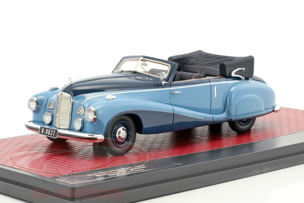 Mercedes-Benz 320A (W142) Spezial Cabriolet Open year 1948 blue 1:43 Matrix