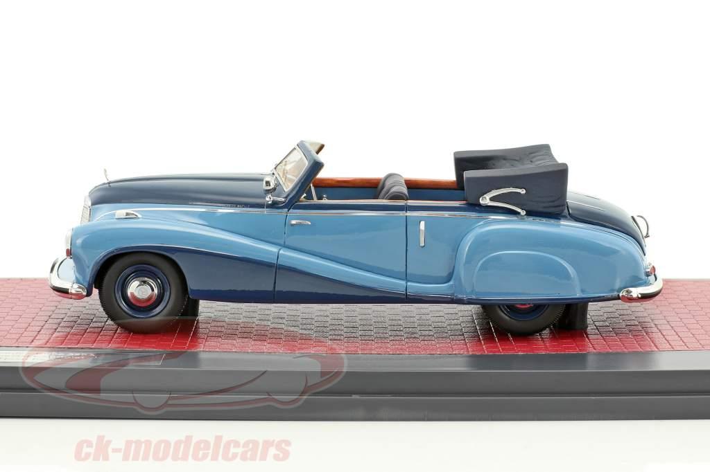 Mercedes-Benz 320A (W142) Spezial Cabriolet Open Baujahr 1948 blau 1:43 Matrix