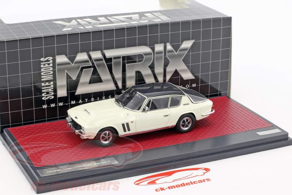 Jensen Interceptor FF Series II année de construction 1970 gris / blanc 1:43 Matrix