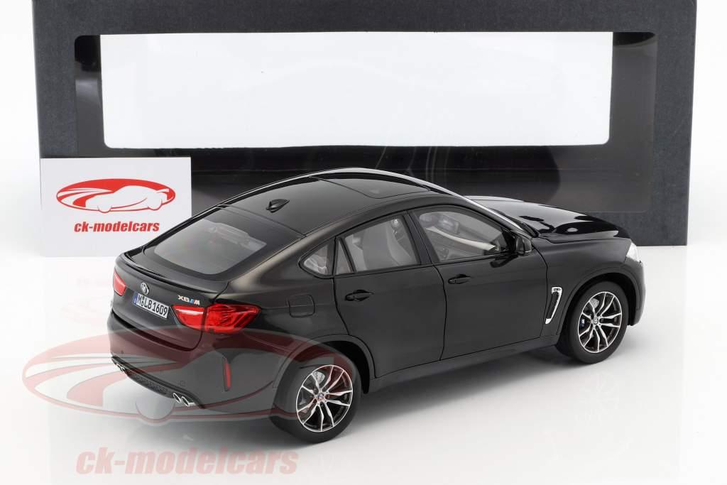 BMW X6 M (F86) Saffier zwart metalen 1:18 Norev