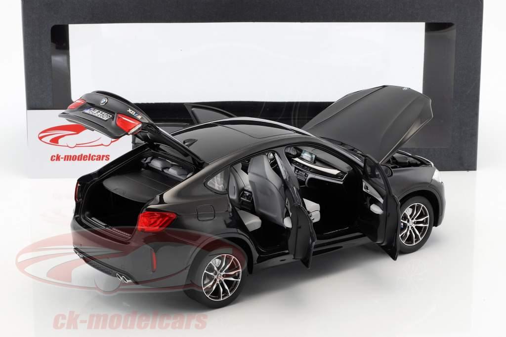 BMW X6 M (F86) Safira preto metálico 1:18 Norev