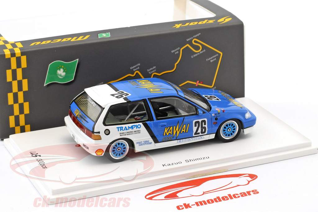 Honda Civic EF3 #26 Macau Guia Race 1989 Kazuo Shimizu 1:43 Spark