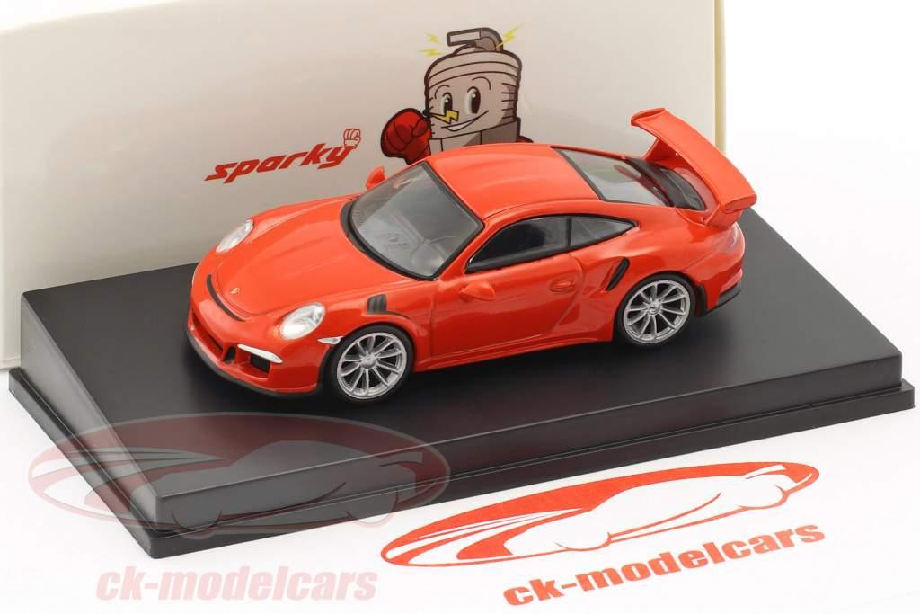 Porsche 911 (991) GT3 RS anno di costruzione 2016 lava arancione 1:64 Spark