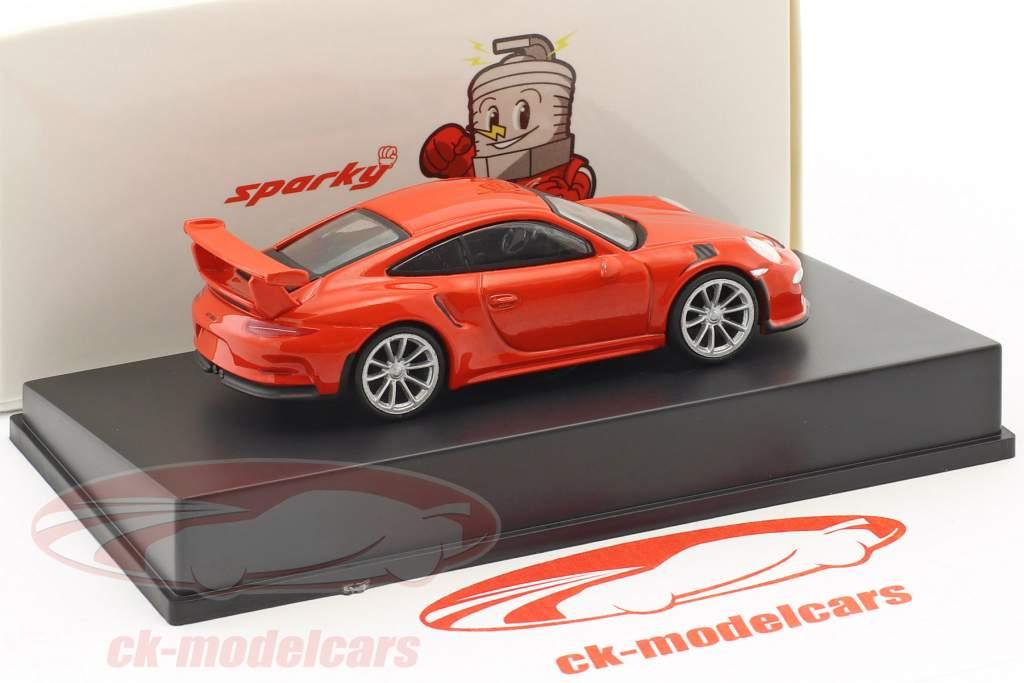 Porsche 911 (991) GT3 RS year 2016 lava orange 1:64 Spark