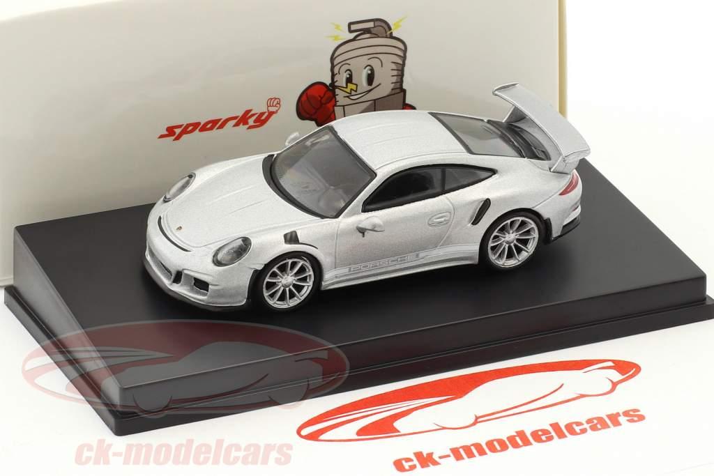 Porsche 911 (991) GT3 RS year 2016 silver 1:64 Spark