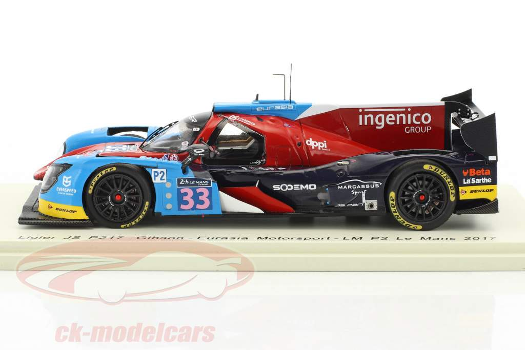 Ligier JS P217 #33 24h LeMans 2017 J. Nicolet, P. Nicolet, Maris 1:43 Spark