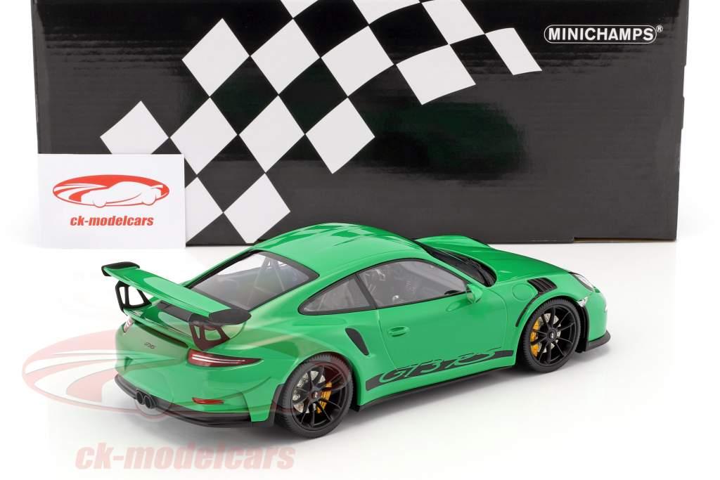Porsche 911 (991) GT3 RS anno di costruzione 2015 vipera verde con nero cerchioni 1:18 Minichamps