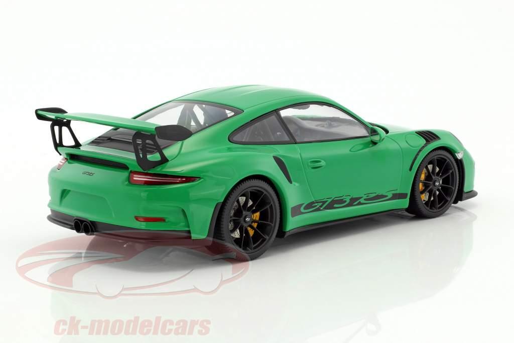 Porsche 911 (991) GT3 RS année de construction 2015 vipère vert avec noir jantes 1:18 Minichamps