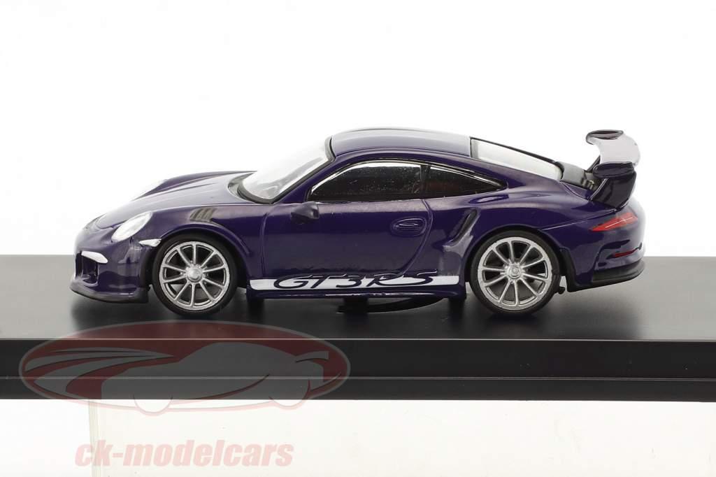 Porsche 911 (991) GT3 RS year 2016 ultra violet 1:64 Spark