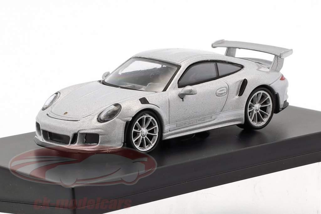 Porsche 911 (991) GT3 RS Baujahr 2016 silber 1:64 Spark