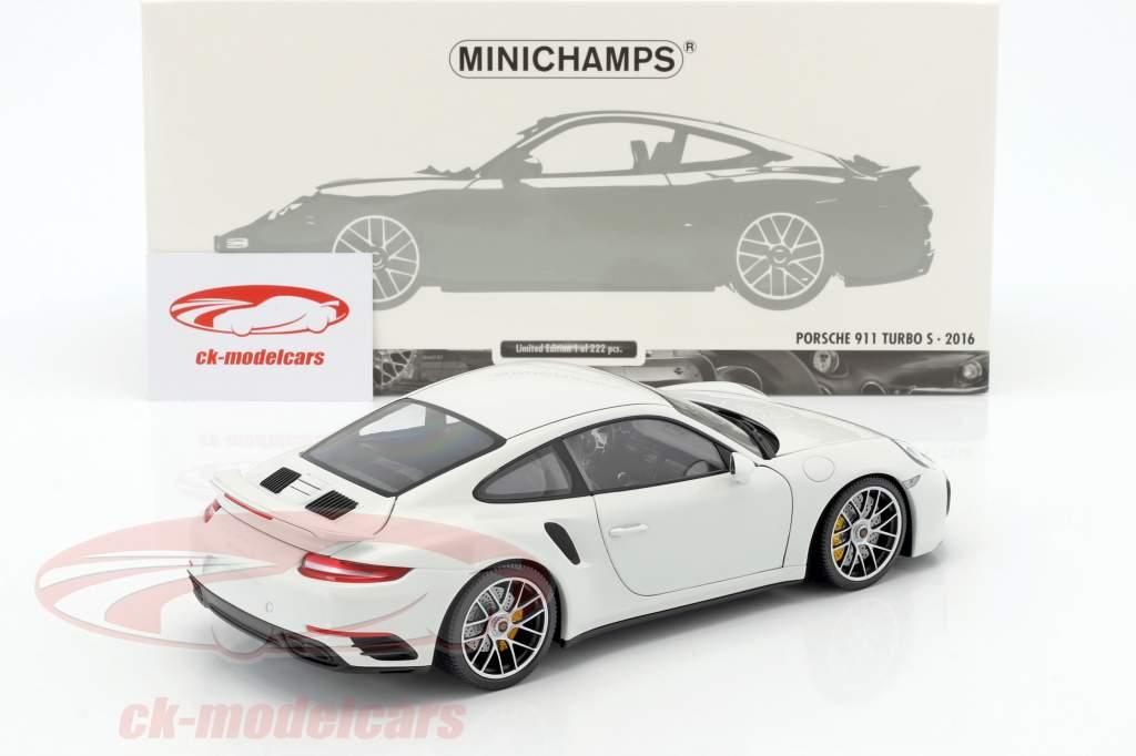 Porsche 911 (991 II) Turbo S anno di costruzione 2016 bianco 1:18 Minichamps