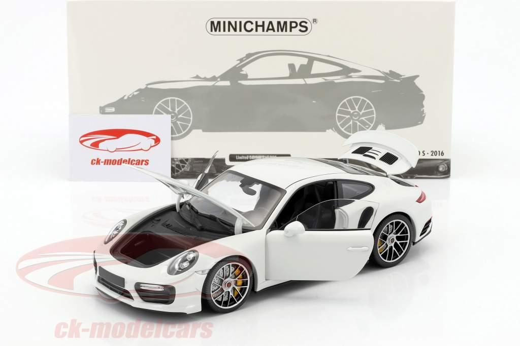Porsche 911 (991 II) Turbo S année de construction 2016 blanc 1:18 Minichamps
