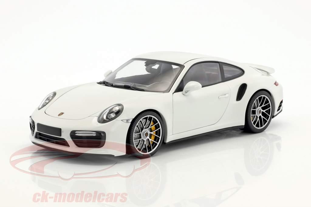 Porsche 911 (991 II) Turbo S Baujahr 2016 weiß 1:18 Minichamps