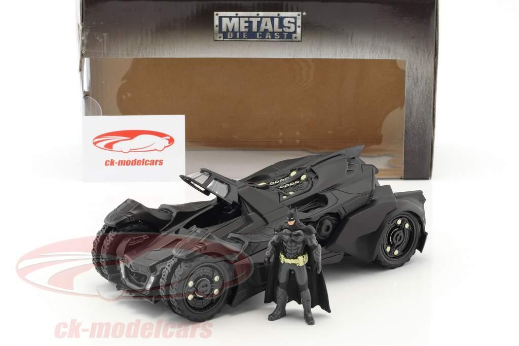 Batmobile Arkham Knight (2015) met figuur Batman zwart 1:24 Jada Toys