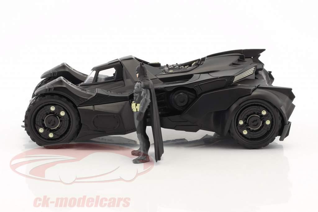 Batmobile Arkham Knight (2015) with figure Batman black 1:24 Jada Toys