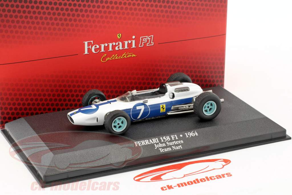 John Surtees Ferrari 158 #7 champion du monde formule 1 1964 1:43 Atlas