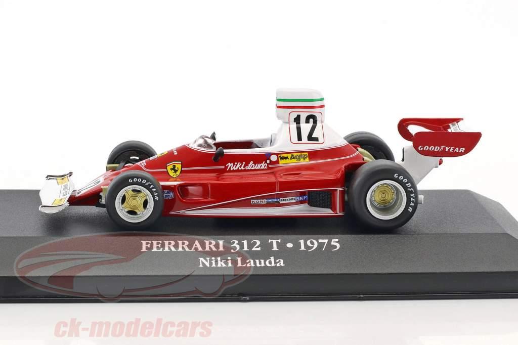 Niki Lauda Ferrari 312T #12 campione del mondo formula 1 1975 1:43 Atlas