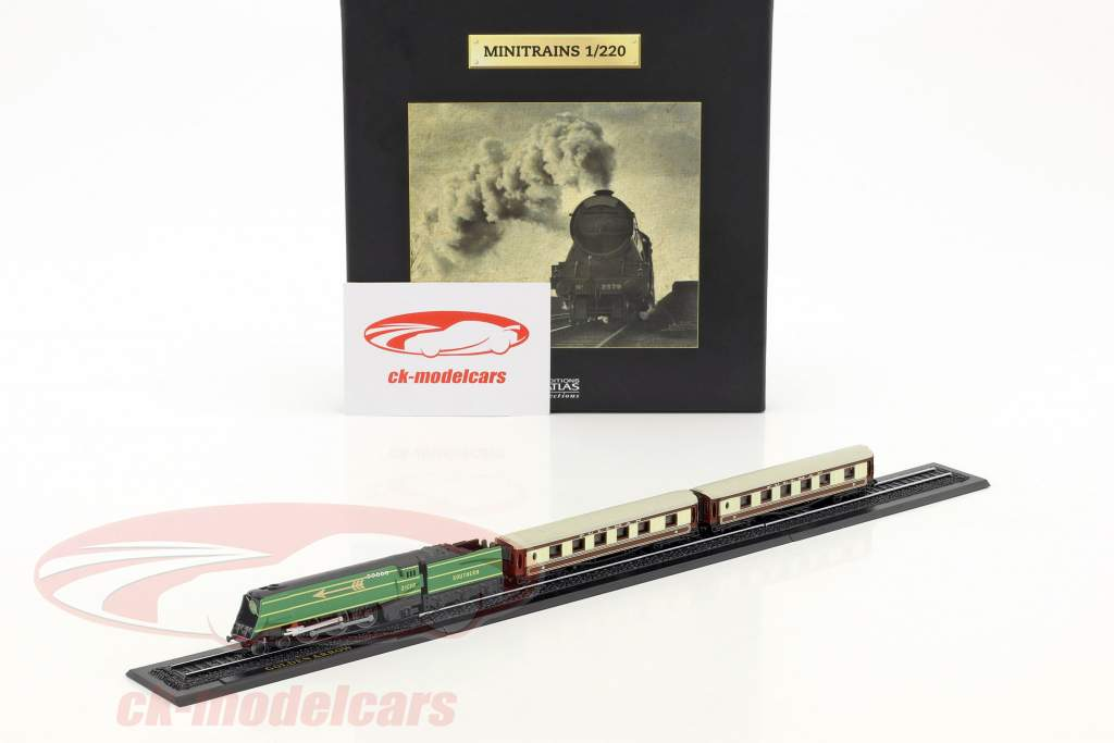 GOLDEN ARROW train with track green / brown / white 1:220 Atlas