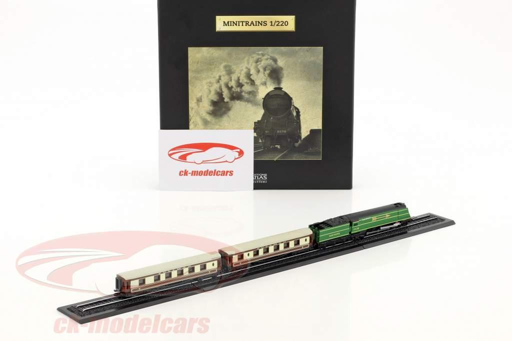 GOLDEN ARROW Zug mit Gleis grün / braun / weiß 1:220 Atlas