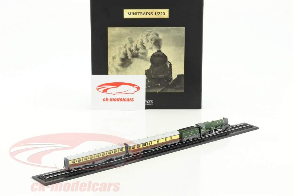 CORNISH RIVIERA Zug mit Gleis dunkelgrün / braun / weiß 1:220 Atlas