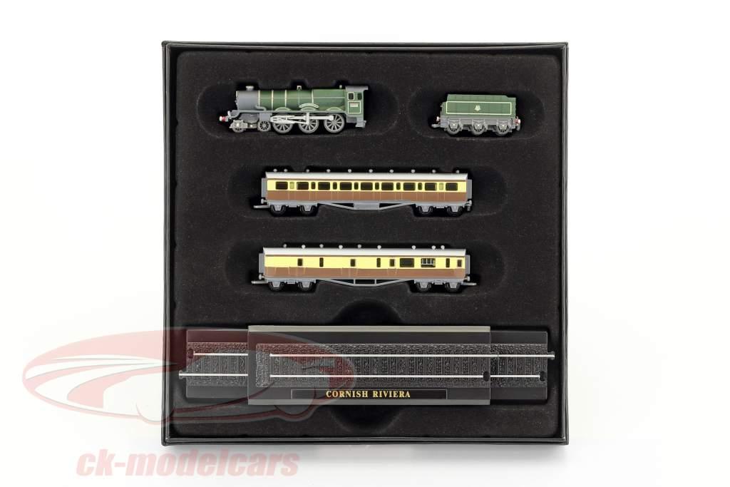 CORNISH RIVIERA train avec piste sombre vert / brun / blanc 1:220 Atlas
