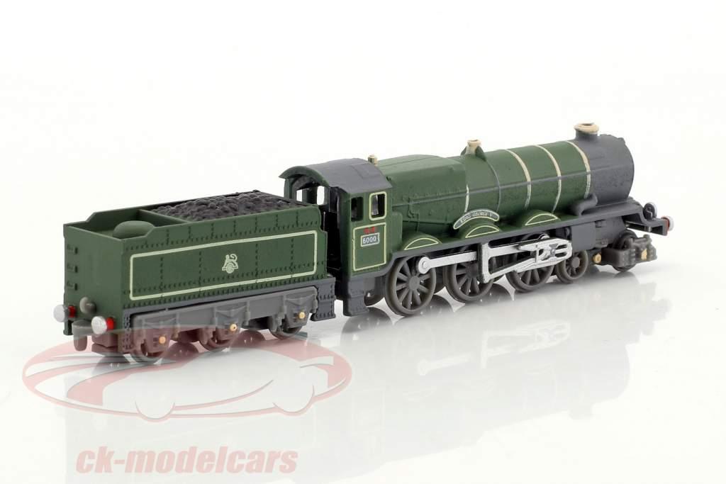 CORNISH RIVIERA treno con pista scuro verde / marrone / bianco 1:220 Atlas