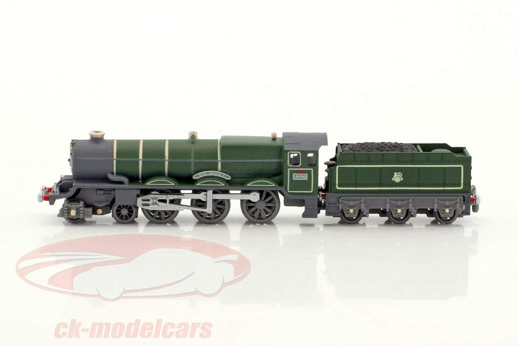CORNISH RIVIERA train with track dark green / brown / white 1:220 Atlas