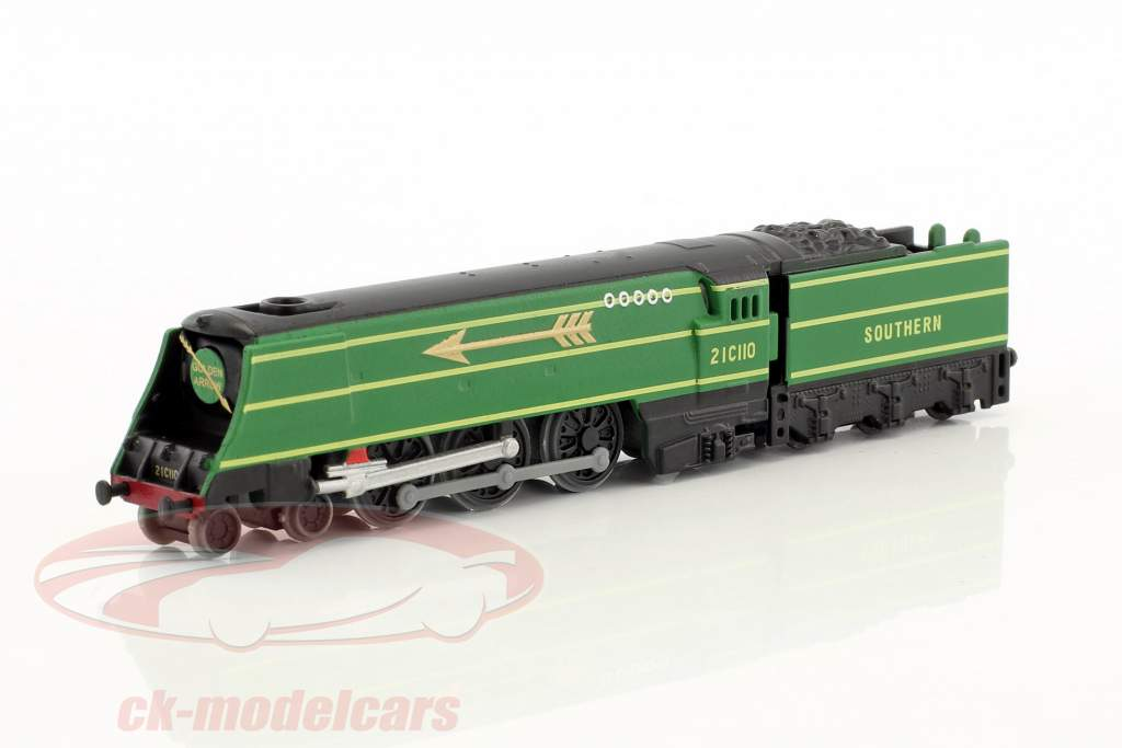 GOLDEN ARROW treno con pista verde / marrone / bianco 1:220 Atlas