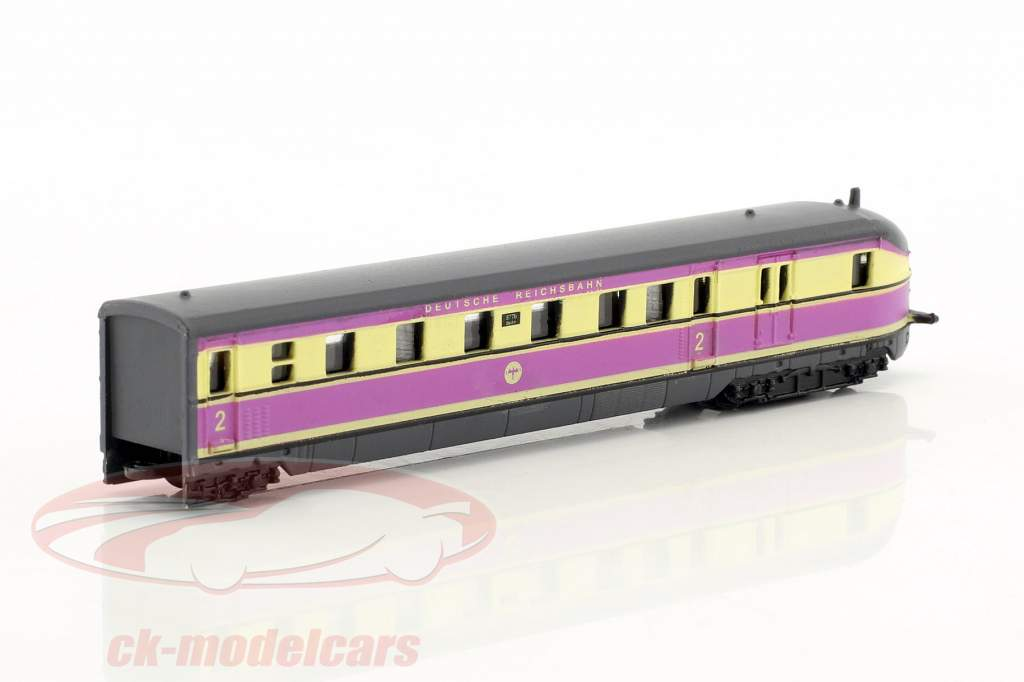 SVT 877 FLIEGENDER HAMBURGER train with track pink / white 1:220 Atlas