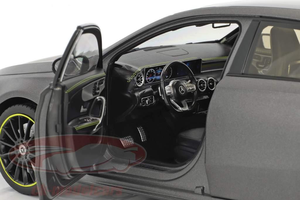 Mercedes-Benz A-Klasse (W177) year 2018 designo mountain gray magno 1:18 Norev