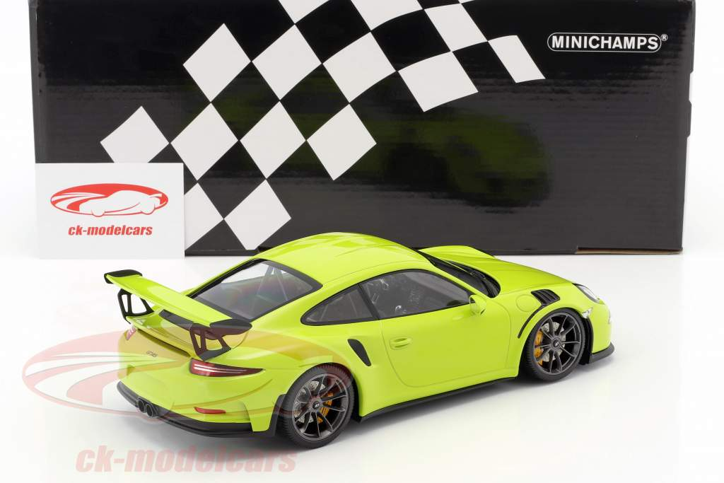 Porsche 911 (991) GT3 RS anno di costruzione 2015 luce verde 1:18 Minichamps