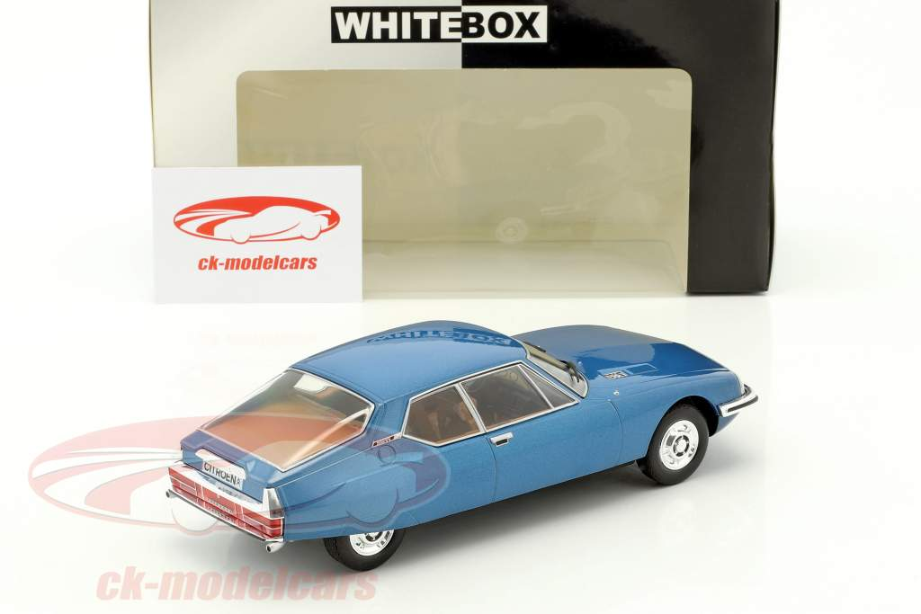 Citroen SM année de construction 1970 bleu métallique 1:24 WhiteBox