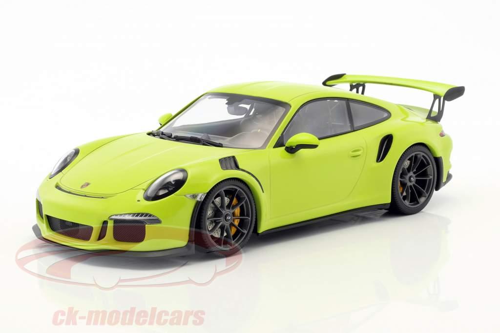 Porsche 911 (991) GT3 RS year 2015 light green 1:18 Minichamps