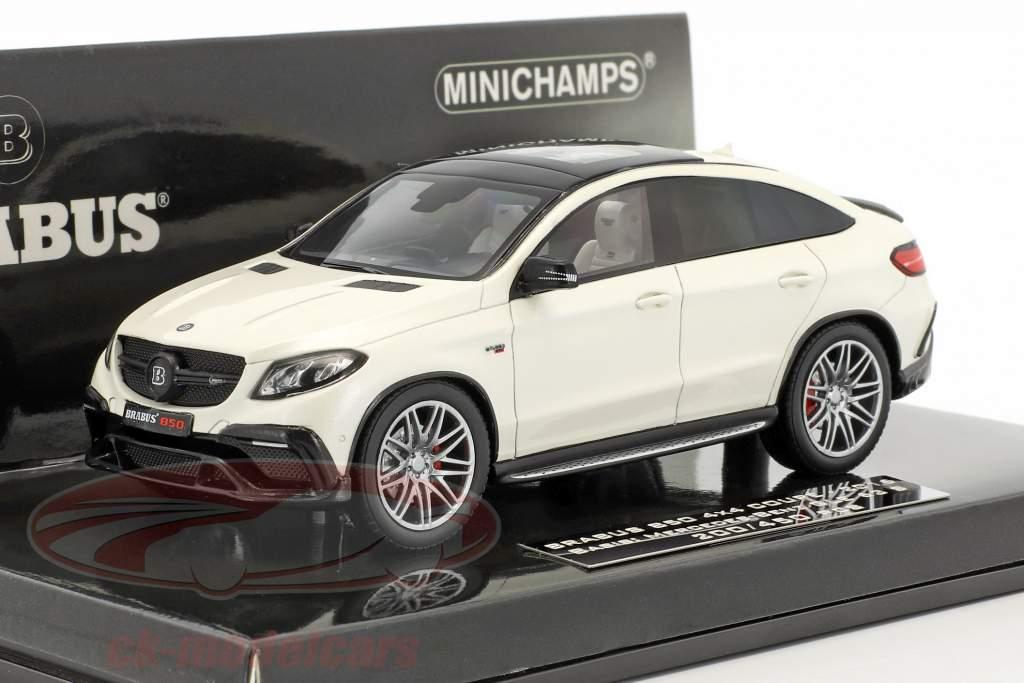 Brabus 850 4x4 coupe basato su Mercedes-Benz AMG GLE 63 S anno di costruzione 2016 bianco 1:43 Minichamps