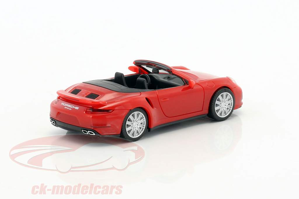 Porsche 911 Turbo Cabriolet red 1:87 Herpa