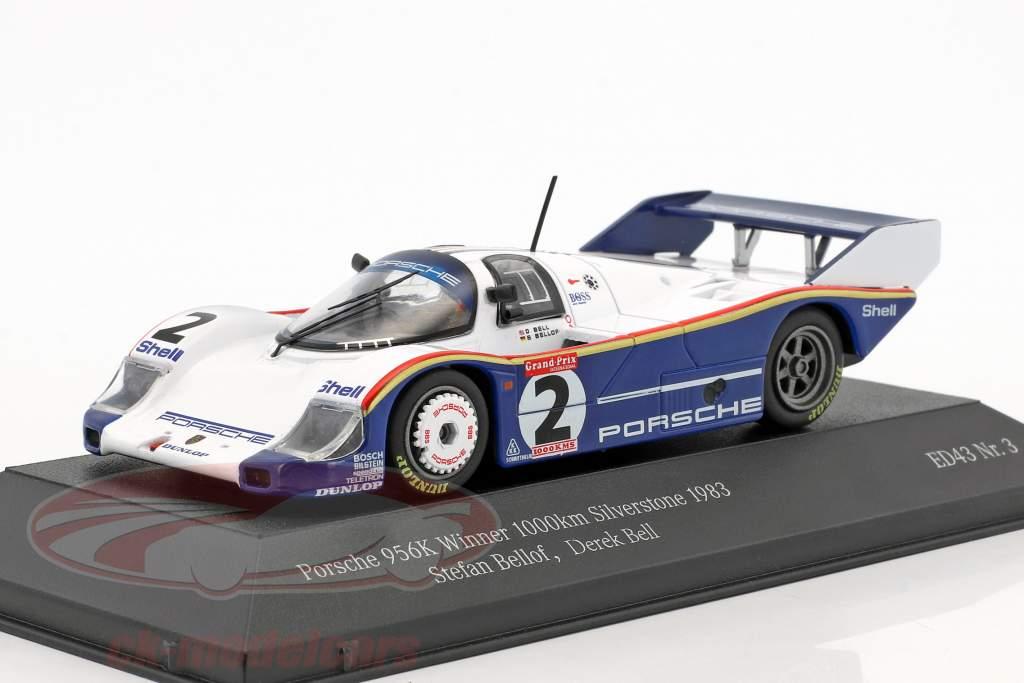 Porsche 956K #2 winnaar 1000km Silverstone 1983 Bellof, Bell 1:43 CMR
