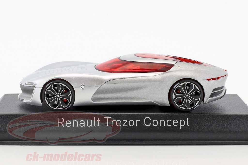 Renault Trezor Concept Car Salon de Paris 2016 argent métallique 1:43 Norev