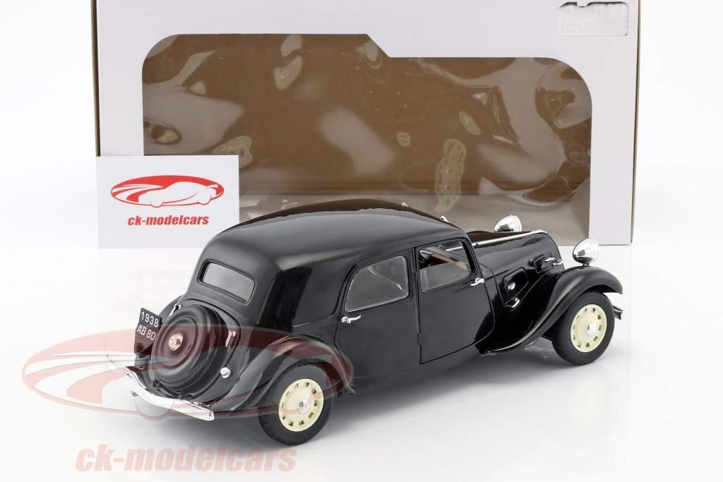 Citroen Traction 11CV year 1937 black 1:18 Solido