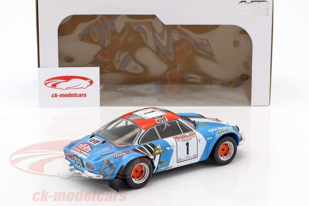 Alpine A110 1800S #1 gagnant Tour de Corse 1973 Nicolas, Vial 1:18 Solido