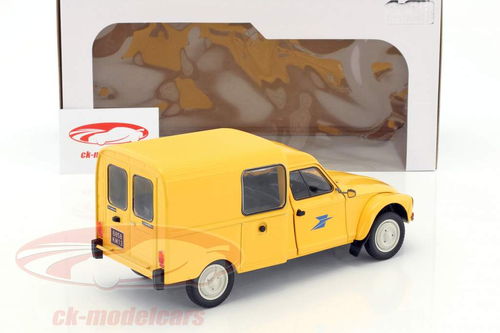 Citroen Acadiane La Poste année de construction 1984 jaune 1:18 Solido