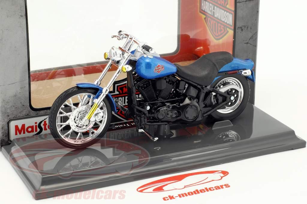 Harley-Davidson FXSTB Night Train year 2002 blue / black 1:18 Maisto