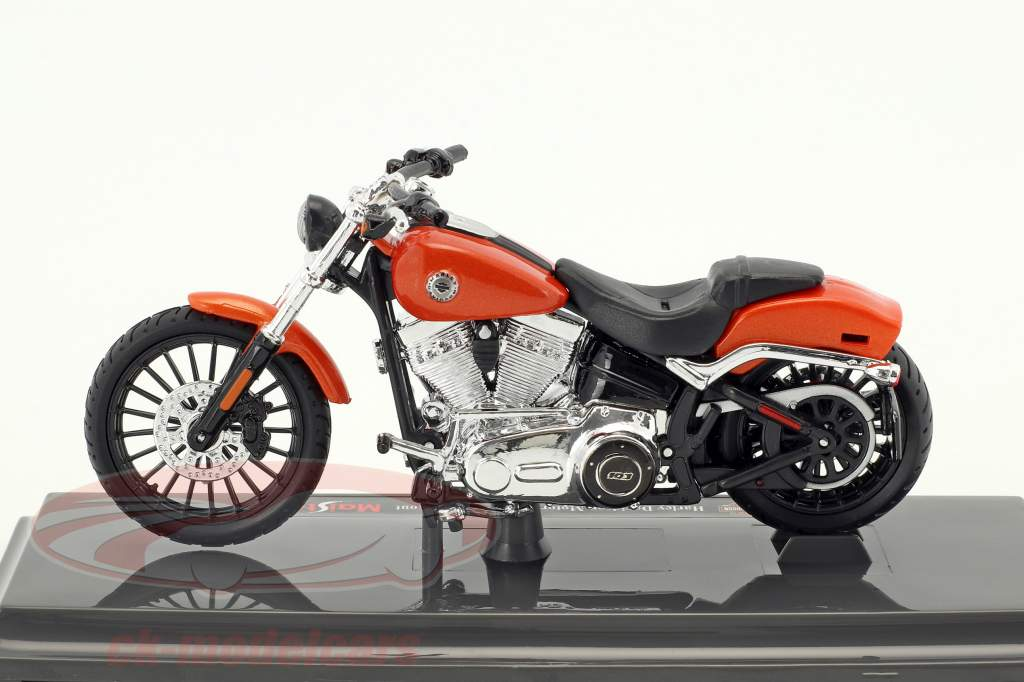Harley-Davidson Breakout année de construction 2016 orange 1:18 Maisto